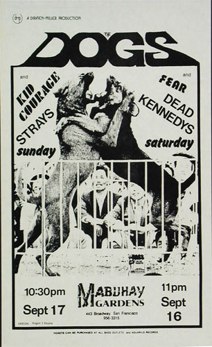 Roger/Reyes The Dogs Punk Flyer / Handbill