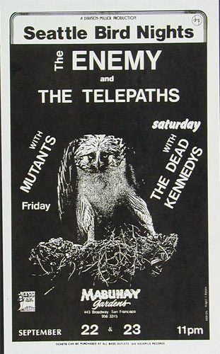 Roger/Reyes The Mutants  Dead Kennedys Punk Flyer / Handbill