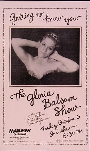 The Gloria Balsam Show Punk Flyer / Handbill