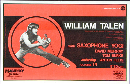William Talen Punk Flyer / Handbill