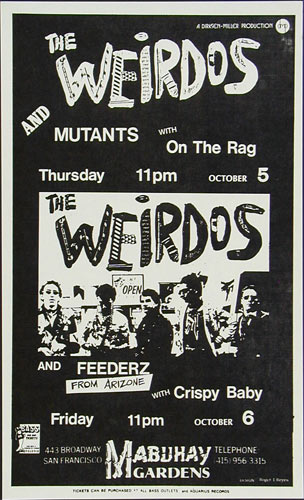 Roger/Reyes The Weirdos Punk Flyer / Handbill