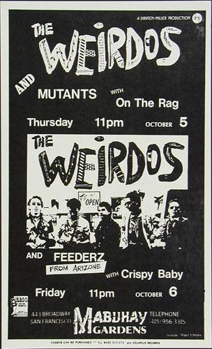 Roger/Reyes The Weirdos Punk Flyer / Handbill