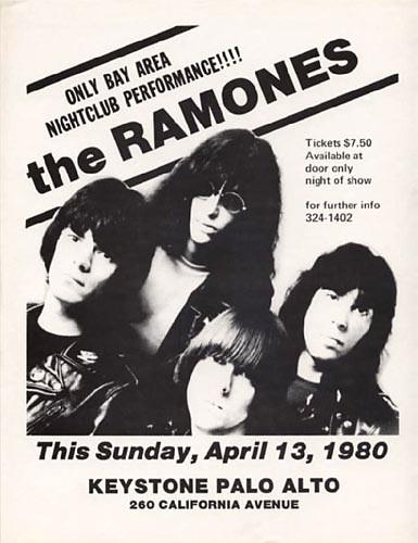 The Ramones Punk Flyer / Handbill