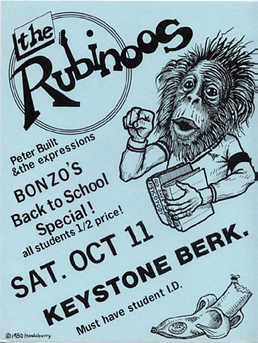 John Seabury AKA Hondoberry The Rubinoos Punk Flyer / Handbill