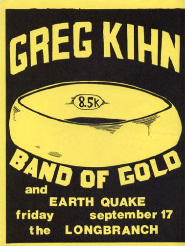 Greg Kihn Punk Flyer / Handbill