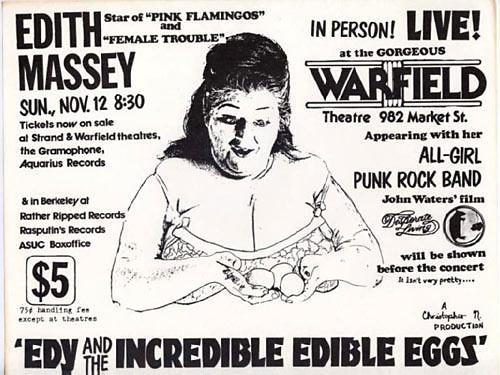 Edith Massey Punk Flyer / Handbill