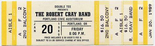 Robert Cray Portland 1989 Ticket