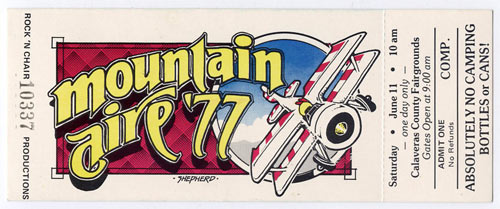 Mountain Aire 1977 Ticket
