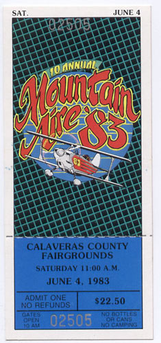 Mountain Aire 1983 Ticket