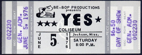 Yes 1976 ticket