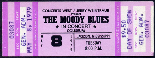 Moody Blues 1979 ticket