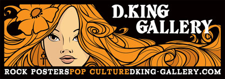 D.King Gallery Rock Posters Pop Culture Banner