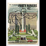 1949 San Francisco 49ers vs Los Angeles Dons Pro Football Program