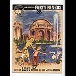 1950 San Francisco 49ers vs Detroit Lions Pro Football Program