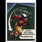 1952 San Francisco 49ers vs Los Angeles Rams Pro Football Program