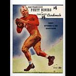 1953 San Francisco 49ers vs Chicago Cardinals Pro Football Program