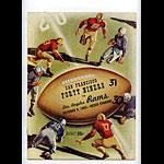 1953 San Francisco 49ers vs Los Angeles Rams Pro Football Program