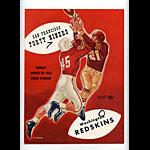 1953 San Francisco 49ers vs Washington Redskins Pro Football Program