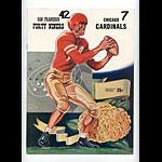 1954 San Francisco 49ers vs Chicago Cardinals Pro Football Program