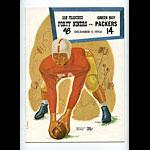 1954 San Francisco 49ers vs Green Bay Packers Pro Football Program