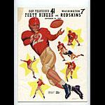 1954 San Francisco 49ers vs Washington Redskins Pro Football Program