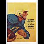 1955 San Francisco 49ers vs Cleveland Browns Pro Football Program