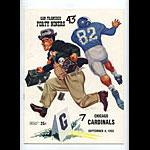 1955 San Francisco 49ers vs Chicago Cardinals Pro Football Program