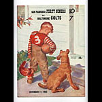 1955 San Francisco 49ers vs Baltimore Colts Pro Football Program