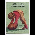1955 San Francisco 49ers vs Green Bay Packers Pro Football Program