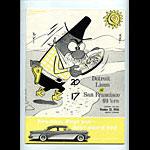 1956 Detroit Lions vs San Francisco 49ers Pro Football Program