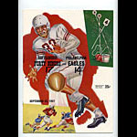 1957 San Francisco 49ers vs Philadelphia Eagles Pro Football Program