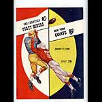 1958 San Francisco 49ers vs New York Giants Pro Football Program