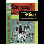 1963 San Francisco 49ers vs Dallas Cowboys Pro Football Program
