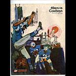 1967 San Francisco 49ers vs Dallas Cowboys Pro Football Program