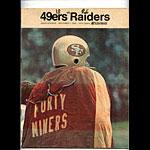1968 San Francisco 49ers vs Oakland Raiders Pro Football Program