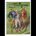 1956 San Francisco 49ers vs New York Giants Pro Football Program