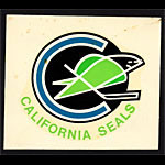 Oakland California Seals 1967 Hya Lac Water Slide Decal Decal
