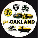 go Oakland 70's A's Raiders Seals Coliseum BART Sticker