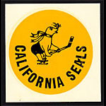 California Seals 1966 Window Decal Hockey Sticker