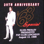 Elvis Presley * *RARE* * 1998 Concert Shirt VTG '68 Special Presidents' Fan Club T-Shirt
