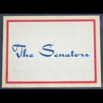 Washington Senators Baseball Dubble Bubble 1961 Fleer Logo   Decal