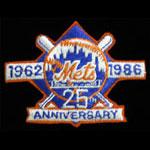 New York Mets 1962 - 1986 Silver Anniversary Baseball Patch