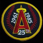 California Angels 1961 - 1985 Silver Anniversary Baseball Patch