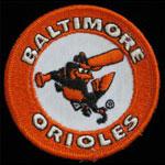 Baltimore Orioles Logo Baseball Patch