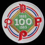 Philadelphia Phillies 1883 - 1983 Centennial Baseball Patch
