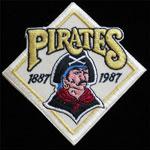 Pittsburgh Pirates 1887 - 1987 Centennial Baseball Patch