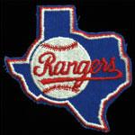 Texas Rangers Logo Baseball Patch