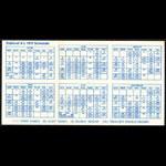 Oakland Athletics **RARE** 1972 Home Pocket Schedule VTG MLB Promo A's guide Pocket Schedule