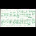 Oakland Athletics **RARE** 1977 Home Pocket Schedule VTG MLB Promo A's guide Pocket Schedule
