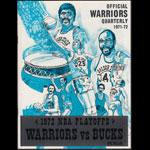 Official Warriors Quarterly 1971-72 - 1972 NBA Playoffs Warriors vs Bucks Basketball Program